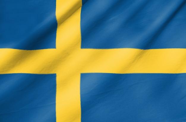 Stoff flagge von schweden