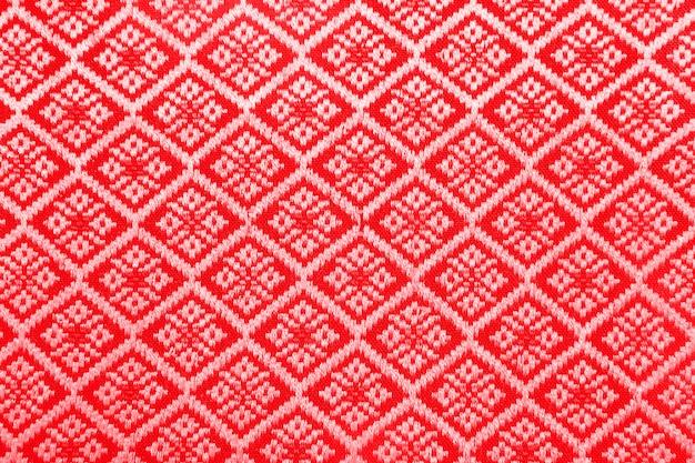 Stoff mit rotem rautenmuster