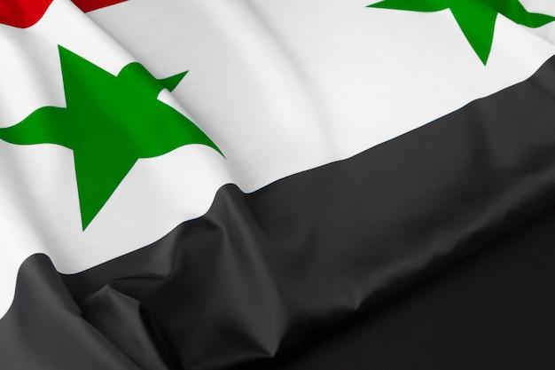 Stoff syrien flagge nahaufnahme