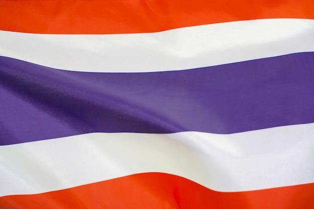 Stoff textur flagge von thailand.
