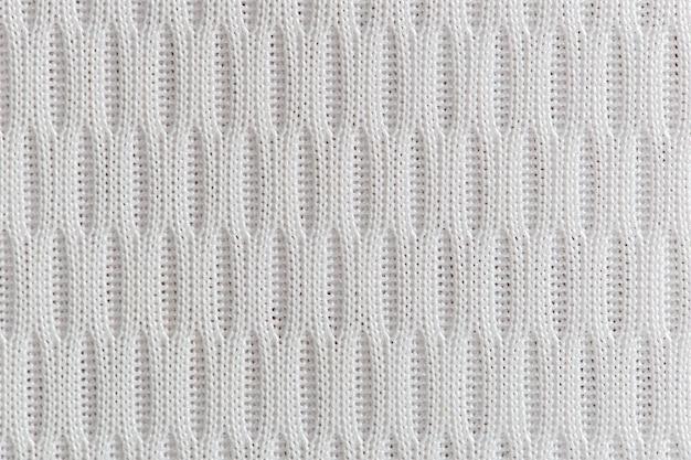 Stoff textur hautnah. weißer textilhintergrund.