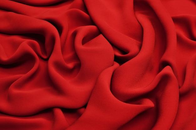 Stoff-textur, nahaufnahme des roten stoff-hintergrunds.