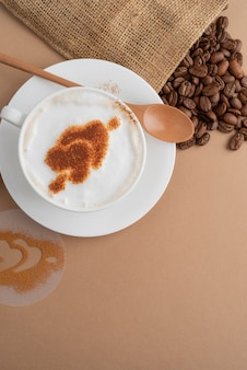 Stoffbeutel mit kaffeebohnen