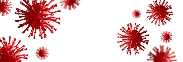Stoppen sie das coronavirus- und quarantänekonzept. medizinische 3d-illustration