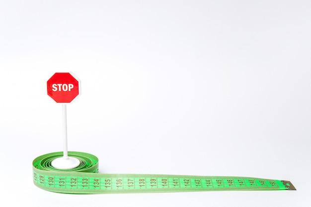 Stoppschild und meter