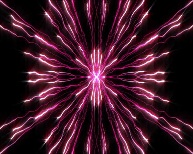 Stränge von lila lichter