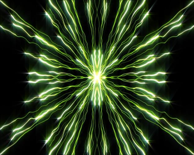 Stränge von strähnen von grünen lichtern