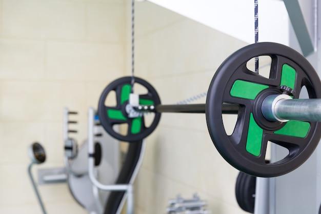 Strahl im fitnessstudio