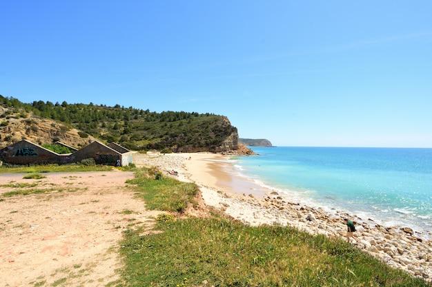 Strand boca del rio, vila tun bispo, algarve, portugal