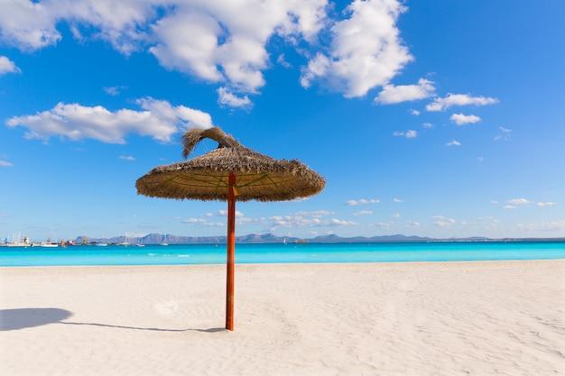 Strand mallorca platja de alcudia in mallorca