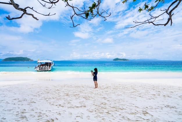 Strand nyaung oo phee, sommerferien und ferienkonzepthintergrund