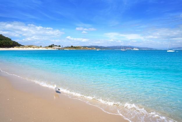 Strand praia de rodas in insel vigo spanien islas cies