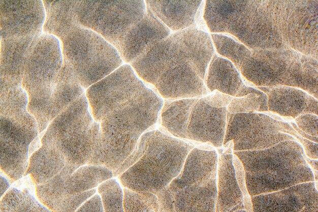 Strand sandboden wellen von wasserwellen