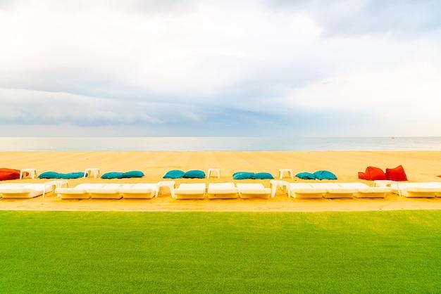 Strand sitzsack mit seehorizont