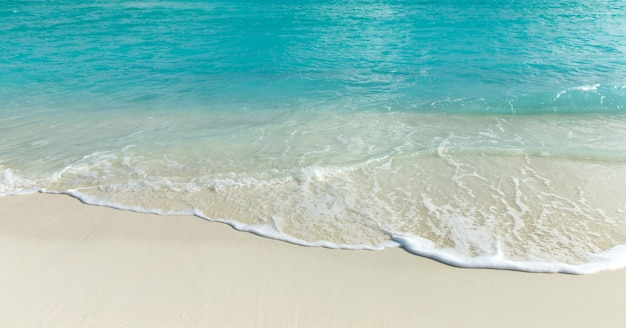 Strand und tropisches meer. naturhintergrund