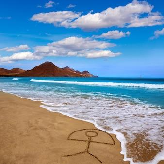 Strand von almeria playa genoveses cabo de gata