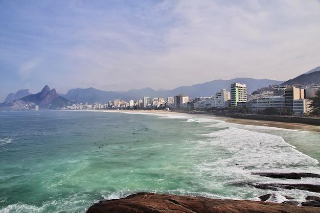 Strand von ipanema in rio de janeiro, brasilien