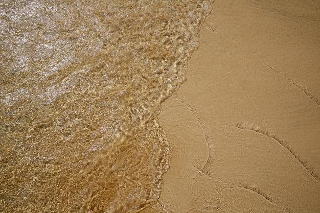 Strandwasser- und sandbeschaffenheitshintergrund
