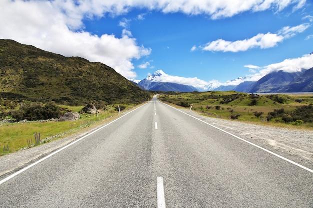 Straße auf der südinsel, neuseeland