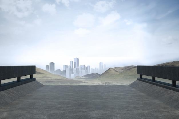 Straße, die zum horizont führt