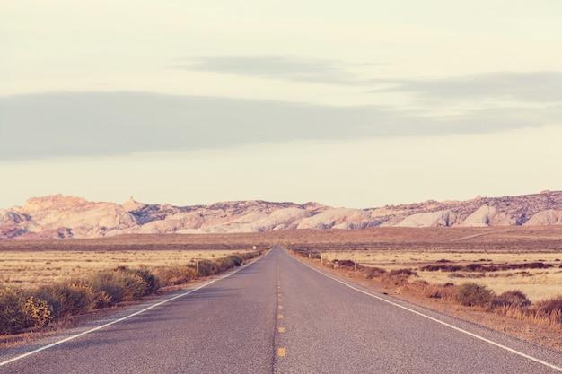 Straße im prärieland