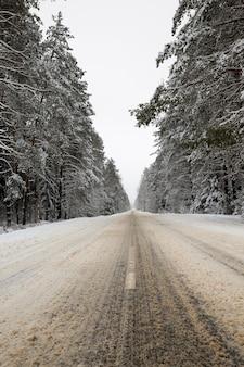 Straße im winter