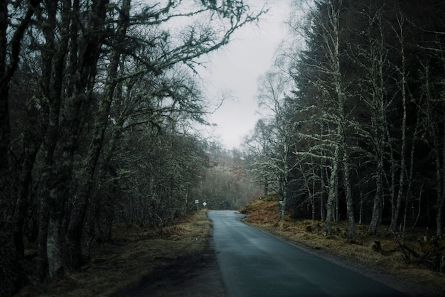 Straße im winterplatz