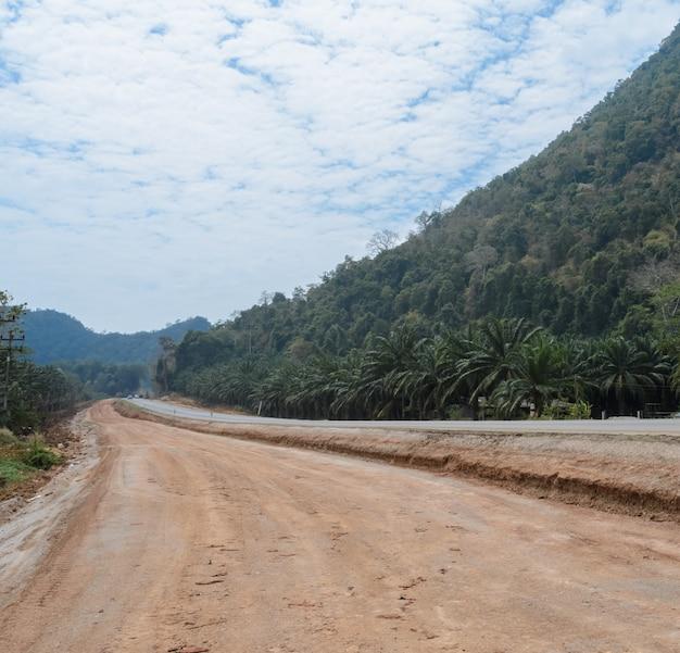 Straße in der natur