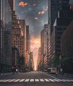 Straße in new york city aussicht wunderschön