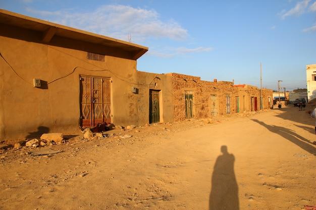 Straße in sokotra im jemen