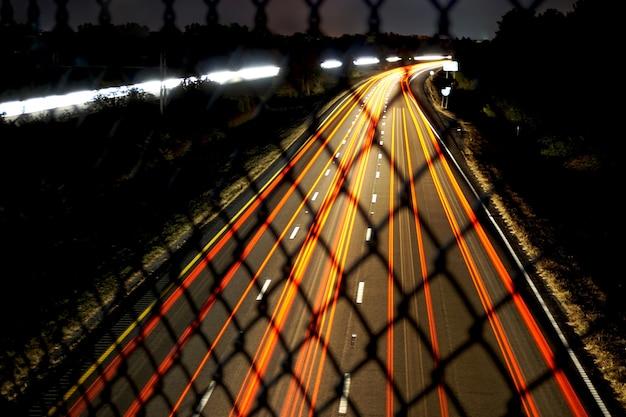 Straße mit unschärfe-effekt