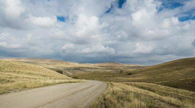 Straße nach udabno, georgia