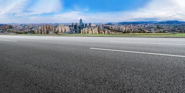 Straßen- und stadtgebäudehintergrund