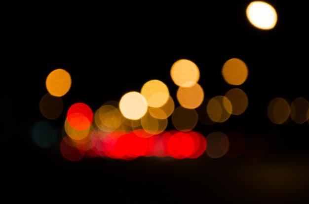 Straßenbeleuchtung ist defokussiert