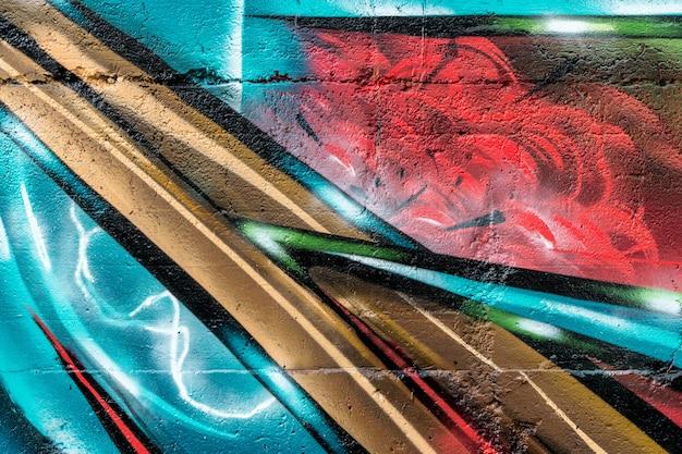 Straßenkunst, bunte graffiti auf der wand