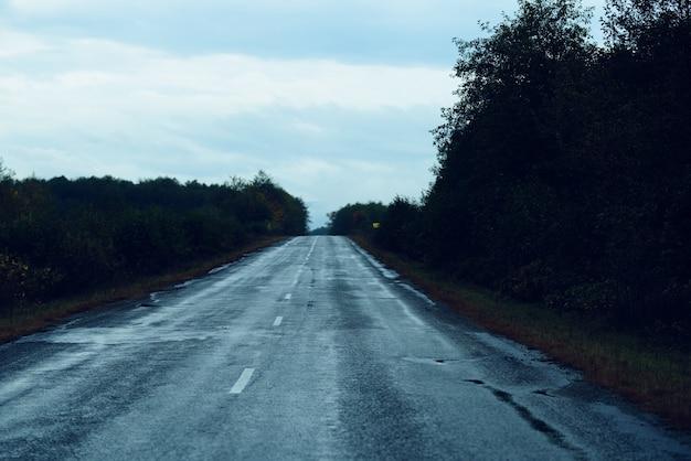 Straßenreise-tourismus-gebirgslandschaft