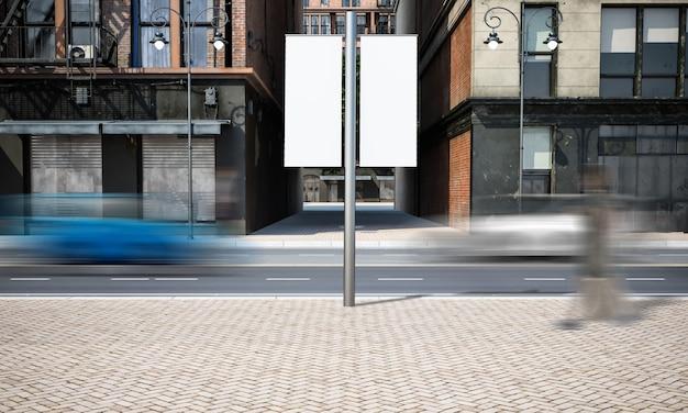 Straßenwerbung laternenpfahl modell