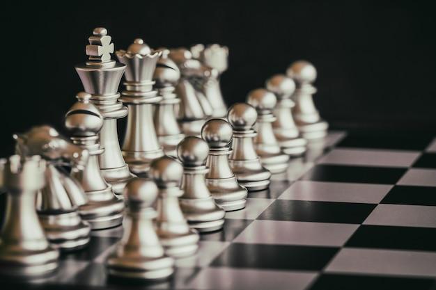 Strategie schach kampf intelligenz herausforderung spiel auf dem schachbrett