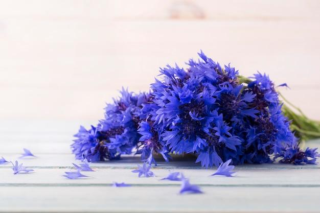 Strauß frischer kornblumen