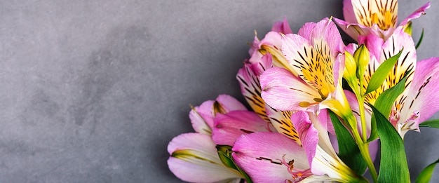 Strauß orchideenblumen