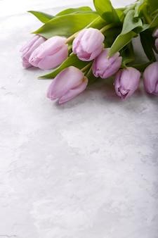 Strauß rosa tulpen