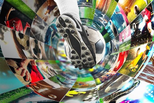 Streaming von fußballbildern im internet in einem digitalen kabel