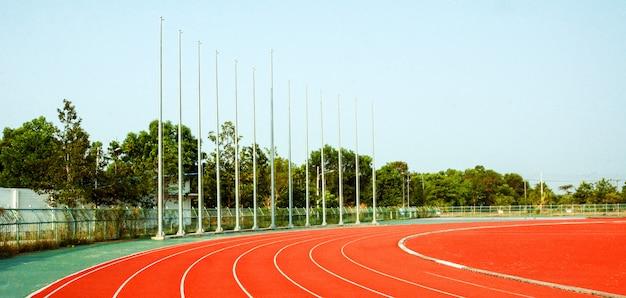 Strecke und laufen, laufbahn für die athleten, athletenbahn oder laufbahn