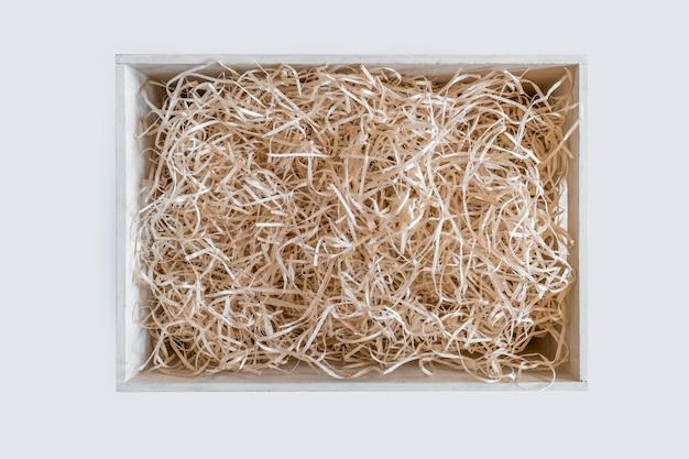 Strohbox service wein weißer hintergrund lagerung verpackung