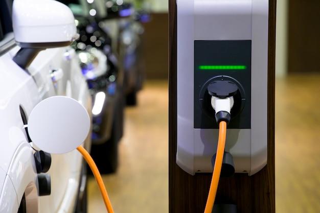 Stromversorgung für elektroautoaufladung. ladestation für elektroautos.