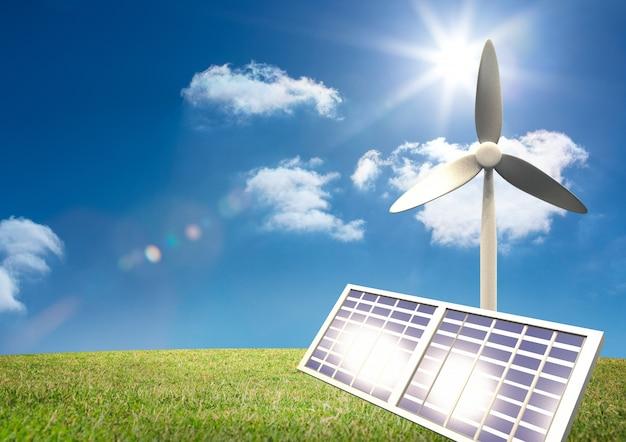 Stromversorgung sonne maschinen sonnig halte