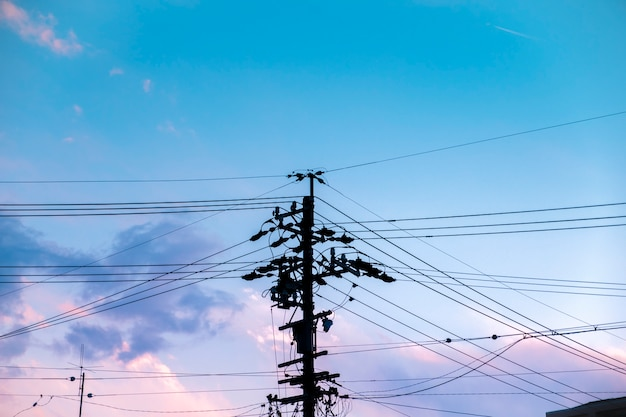 Stromversorgungspolschattenbild