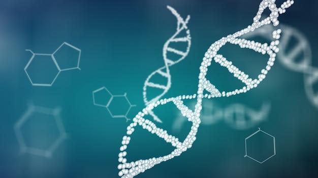 Struktur der dna-doppelhelix-animation, molekulares und biologisches dna-konzept