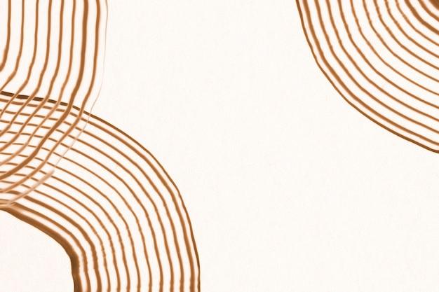 Strukturierte grenze der abstrakten kunst in braunem handgemachtem wellenmuster