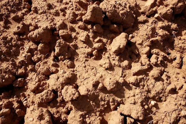 Strukturierter boden der roten landwirtschaft des lehms